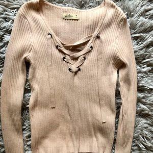 Blush Pink Hollister Sweater